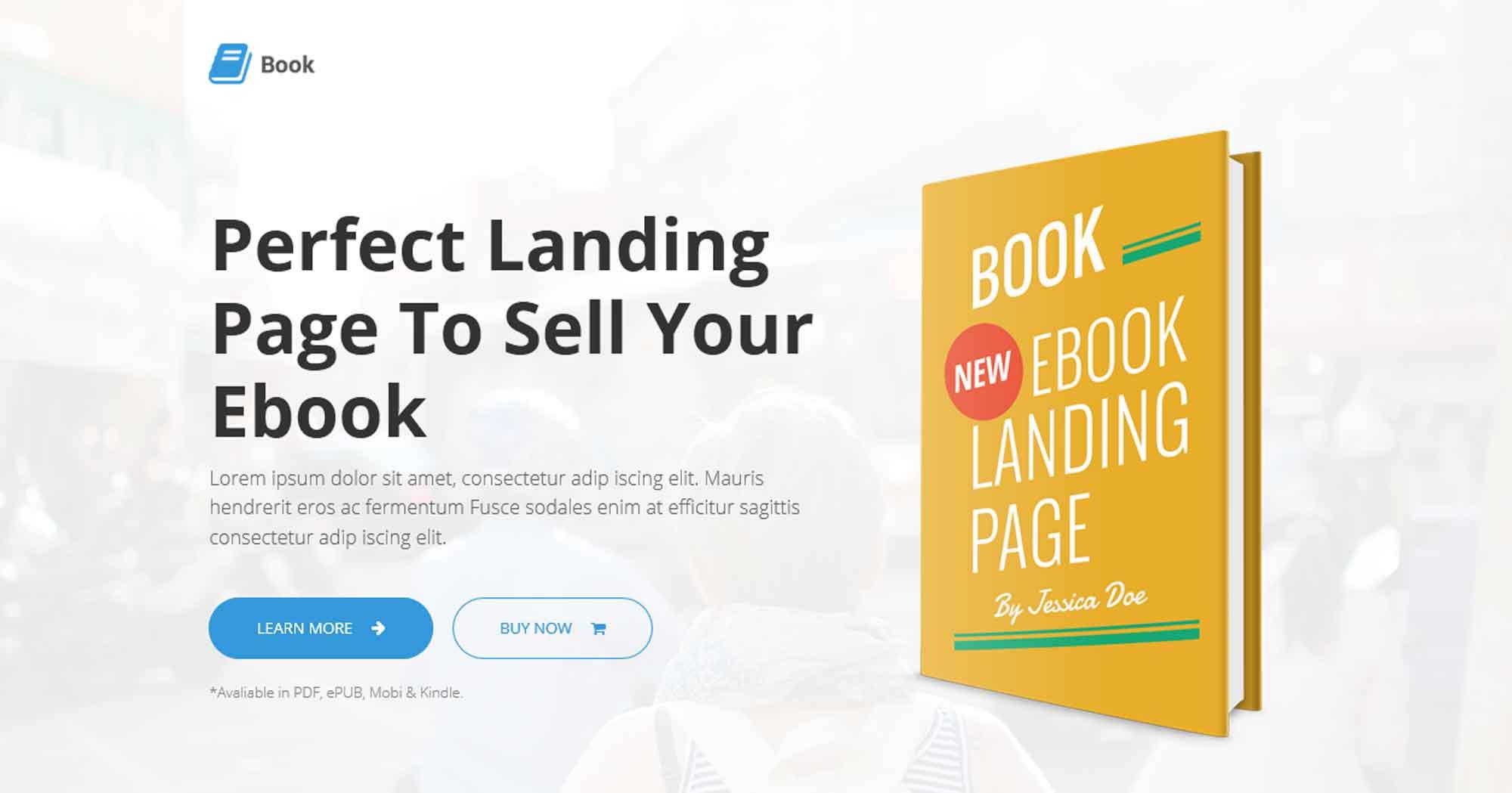 Адаптивный шаблон landing page продажи электронной книги
