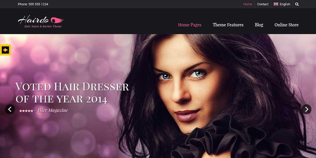 Hairdo - WordPress шаблон салона парикмахерской