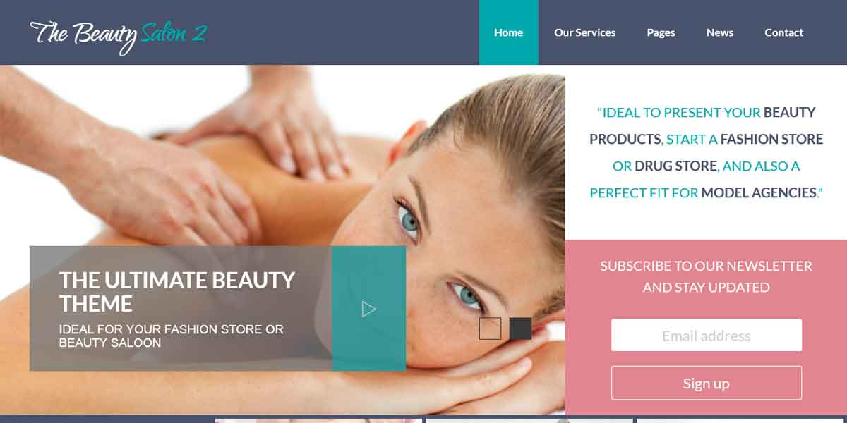 WP шаблон для салона красоты - The Beauty Salon 2