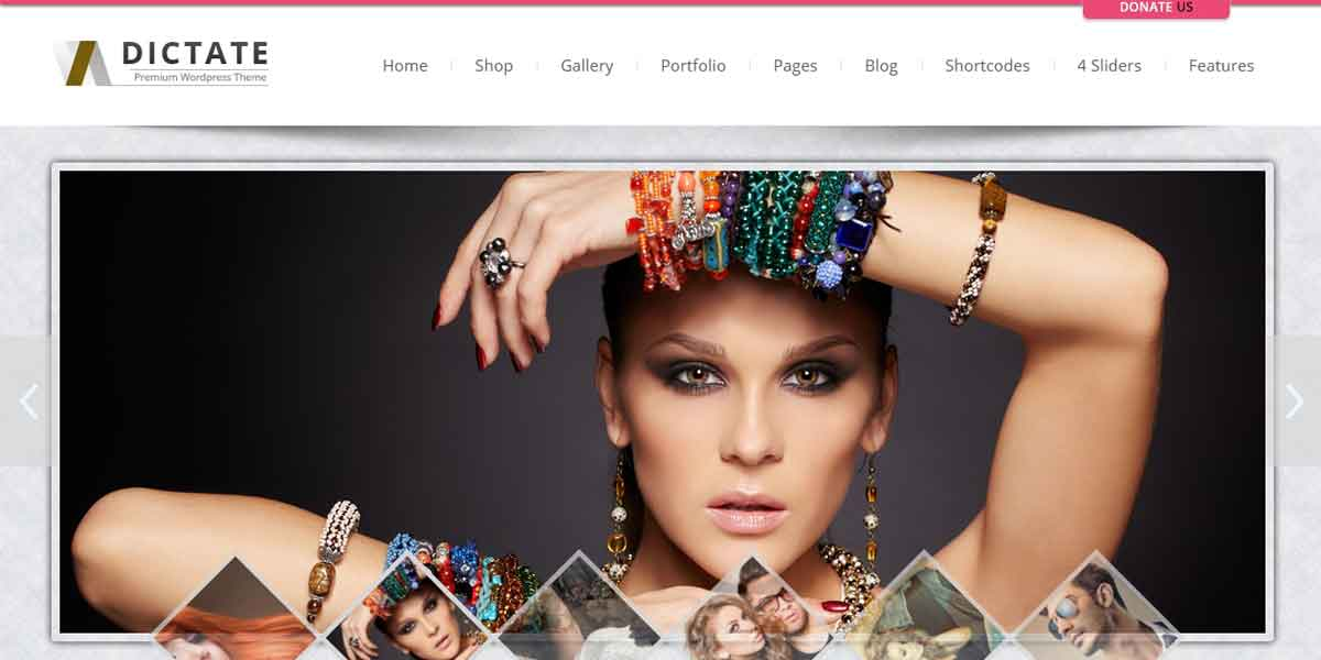 WordPress шаблон салона красоты - Dictate