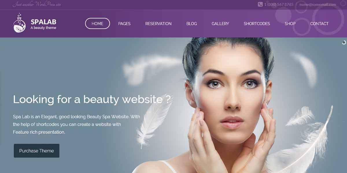 WordPress шаблон для сайта салона красоты и Спа - Spa Lab