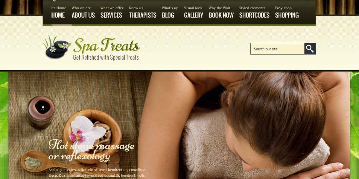 Динамичный WordPress шаблон салона красоты - SPA Treats