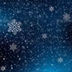 Темно синий новогодний бэкграунд со снежинками