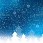 Синий новогодний бэкграунд ночь перед Рождеством