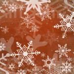 Красный новогодний бэкграунд с крупными снежинками