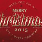 Красный новогодний бэкграунд 2015 и Рождество