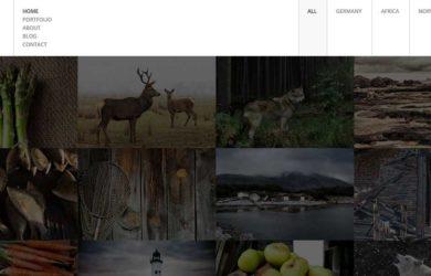 Полноэкранный HTML5 шаблон портфолио фотографа с магазином