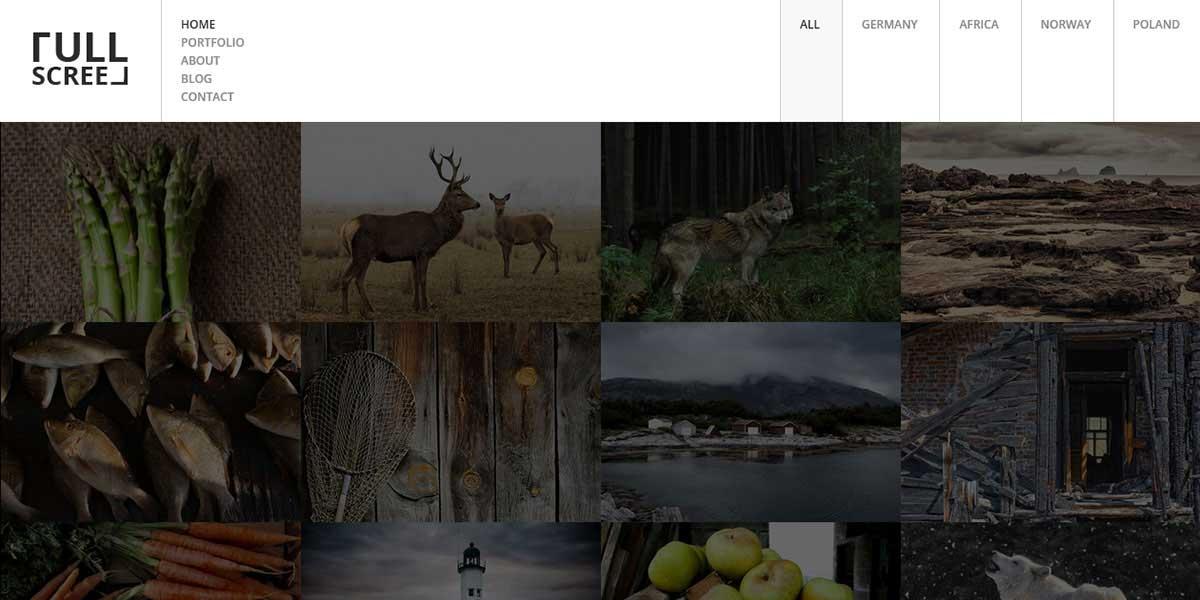 HTML5 шаблон портфолио фотографа с магазином