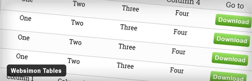 Плагин Websimon Tables