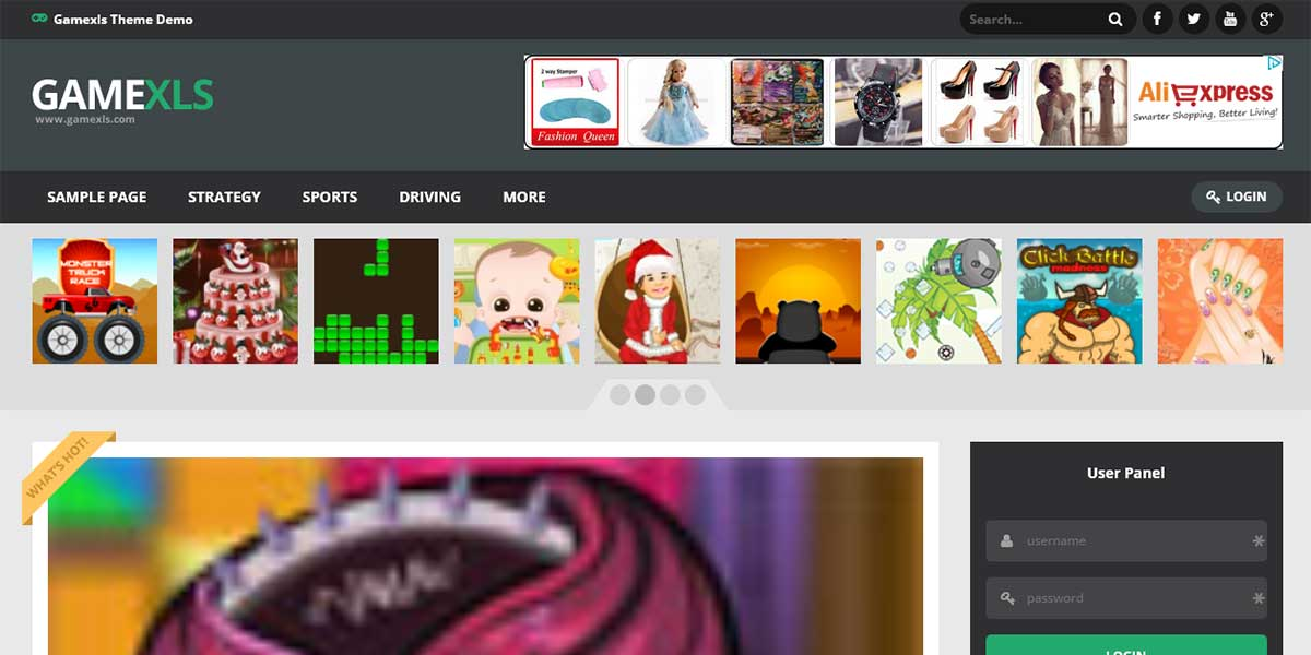Wordpress шаблон для плагина создающего игровой сайт