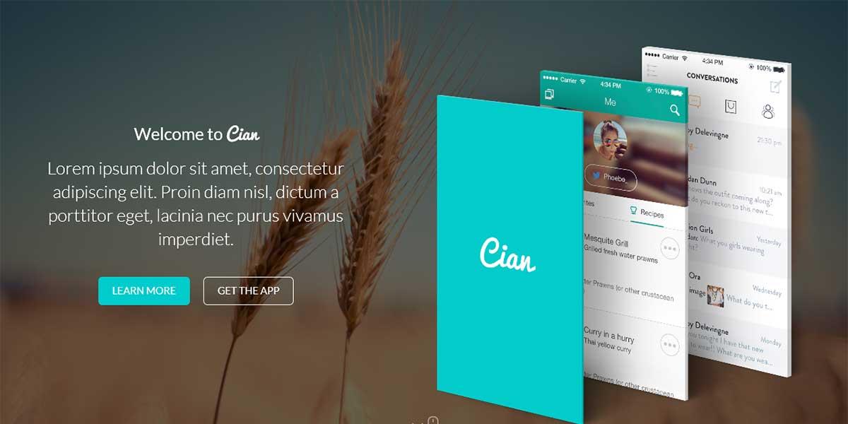 Премиум шаблон App Landing Page WordPress