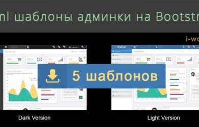 Html шаблоны админки на Bootstrap