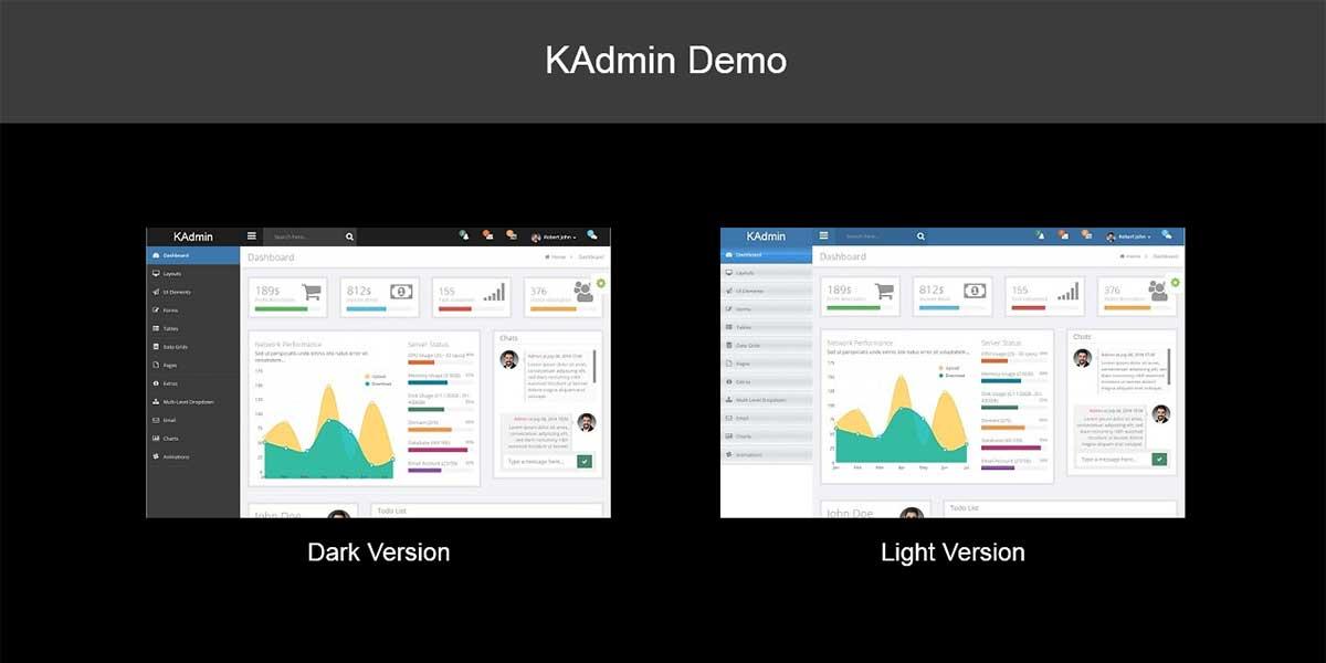 Html Bootstrap шаблон админки KAdmin 1