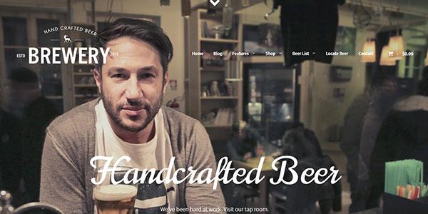 Brewery - WordPress шаблон для пивзавода