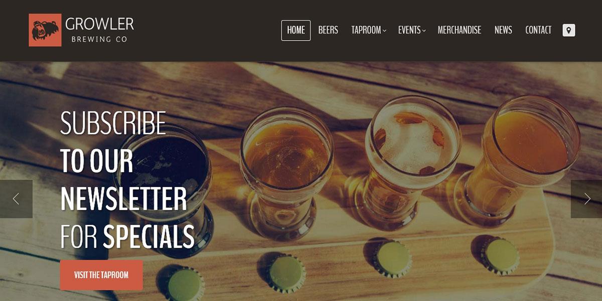 WordPress шаблон ресторана пивоварни