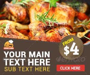 Баннеры для рекламы ресторана, еды