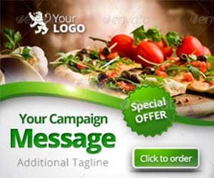Шаблон рекламного баннера еда, ресторан