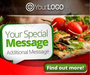Рекламные веб баннеры ресторана