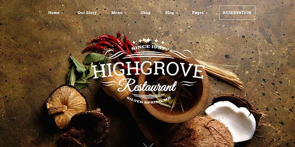HG Restaurant - адаптивная WordPress тема для ресторана