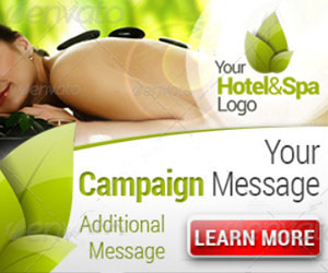 Шаблоны баннеров для рекламы Спа-отеля