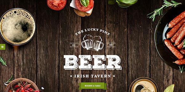 Tavern - WordPress шаблон для паба или ресторана пивоварни