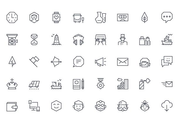 100 прикольных, тонких иконок на тему туризма ai, eps, pdf, svg
