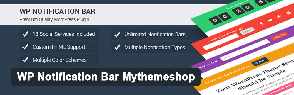 Плагин WP Notification Bar Mythemeshop