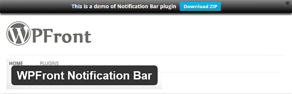 Плагин WPFront Notification Bar