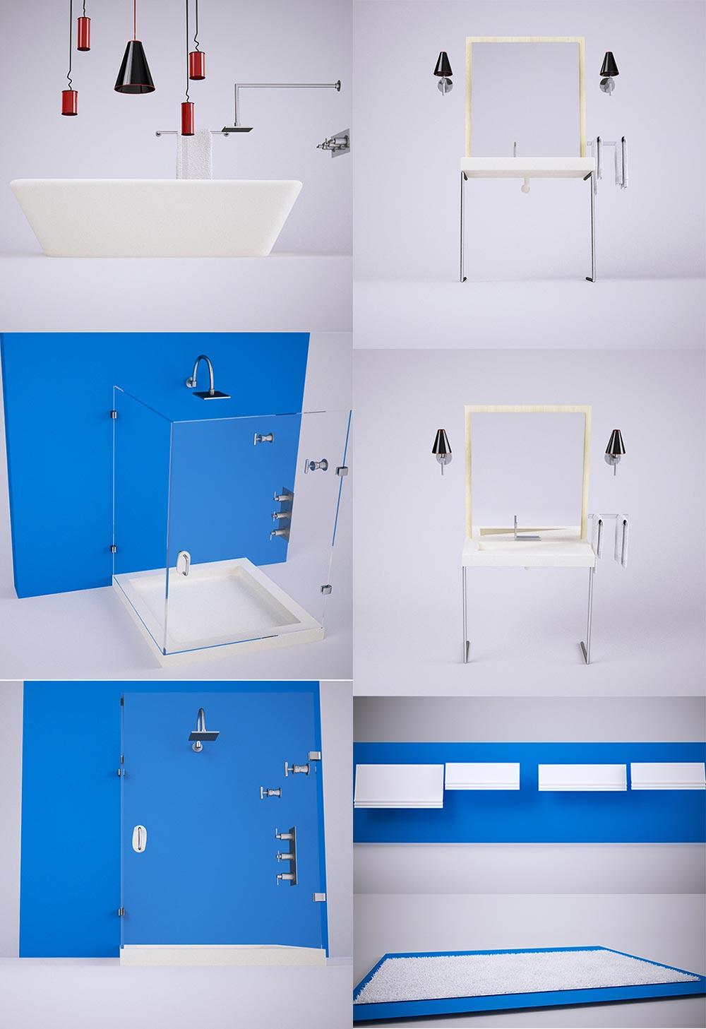 3D модели для ванной комнаты