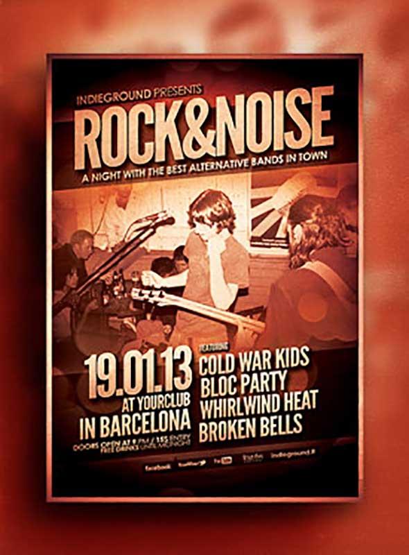 Шаблон флаера Rock Gig Poster
