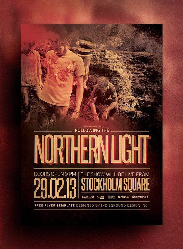 Музыкальный PSD шаблон Northern Light