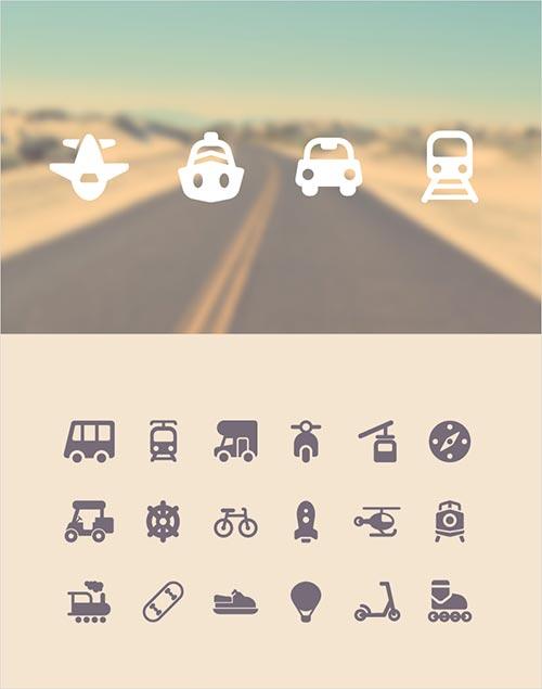 100 бесплатных иконок туризм и путешествия 3