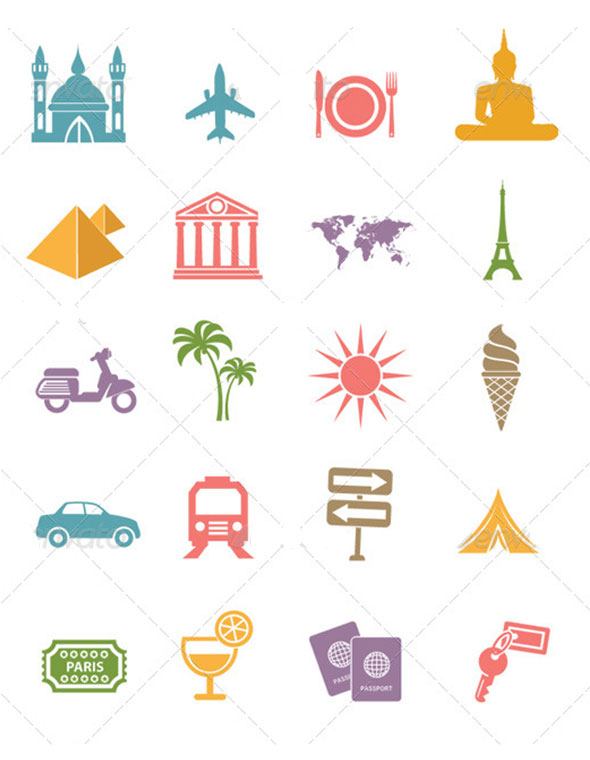 Иконки путешествия