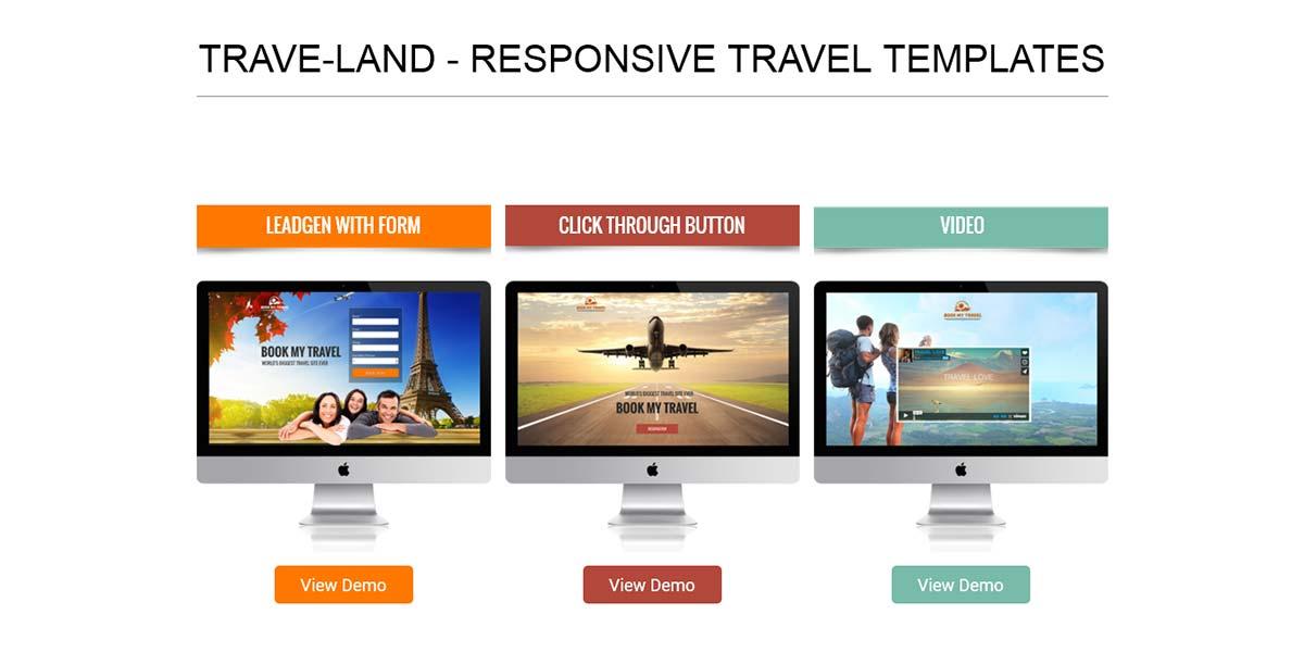 Travel Land - безотказный шаблон Landing Page для туризма 3 вида