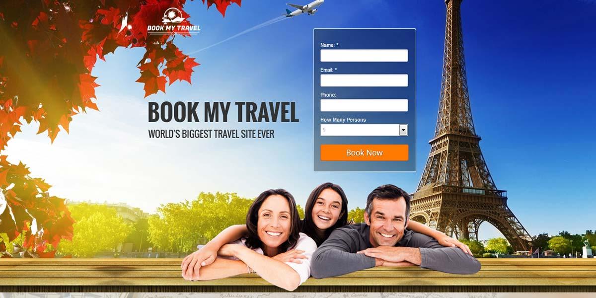 Travel Land - шаблон Landing Page с формой лидогенерации