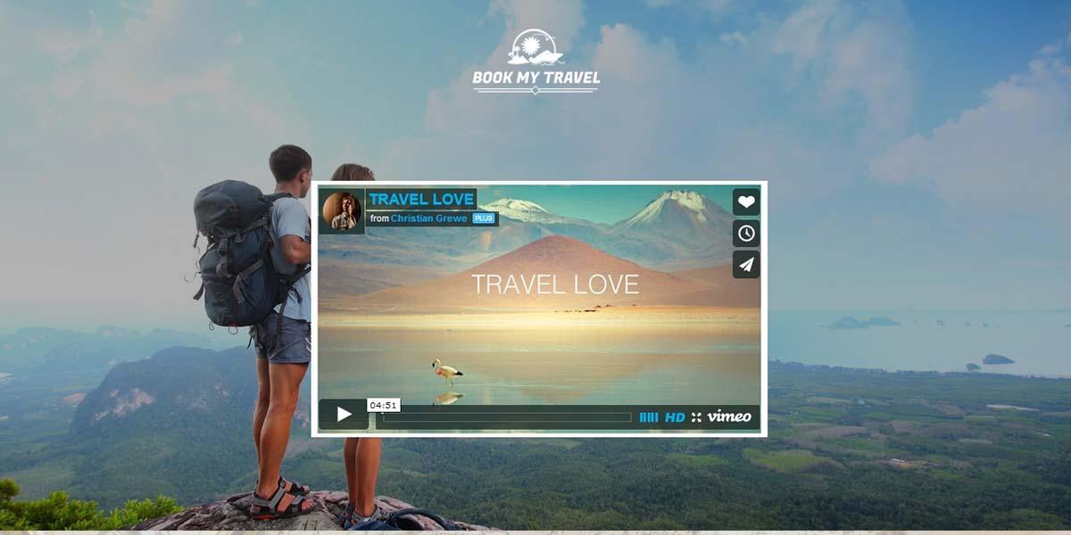Travel Land - шаблон Landing Page с видео секцией