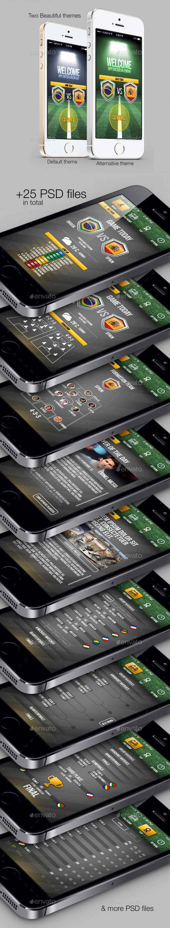Mobile App UI Sport Template