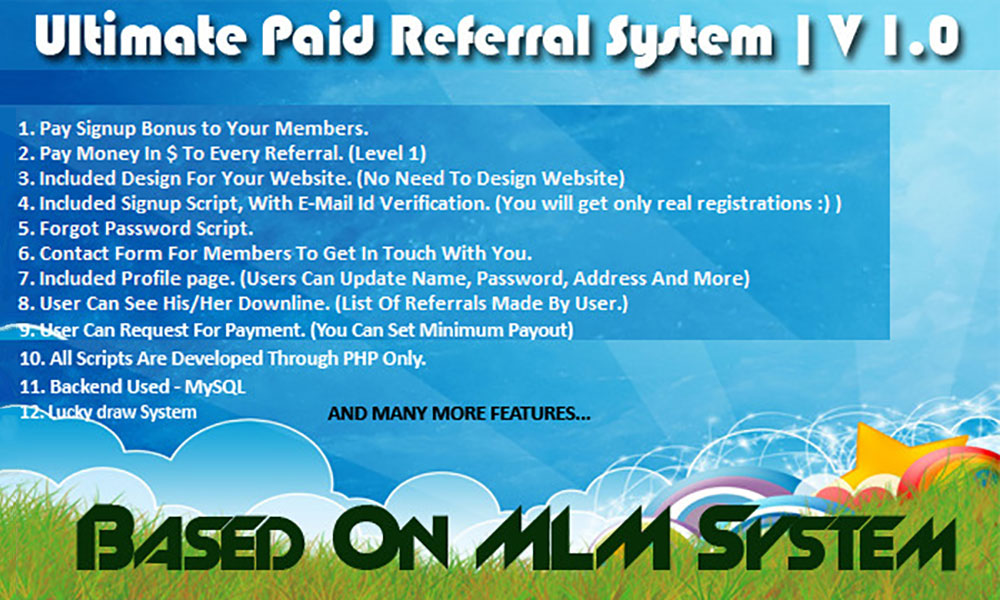 Скрипт реферальной программы ultimate paid referral system