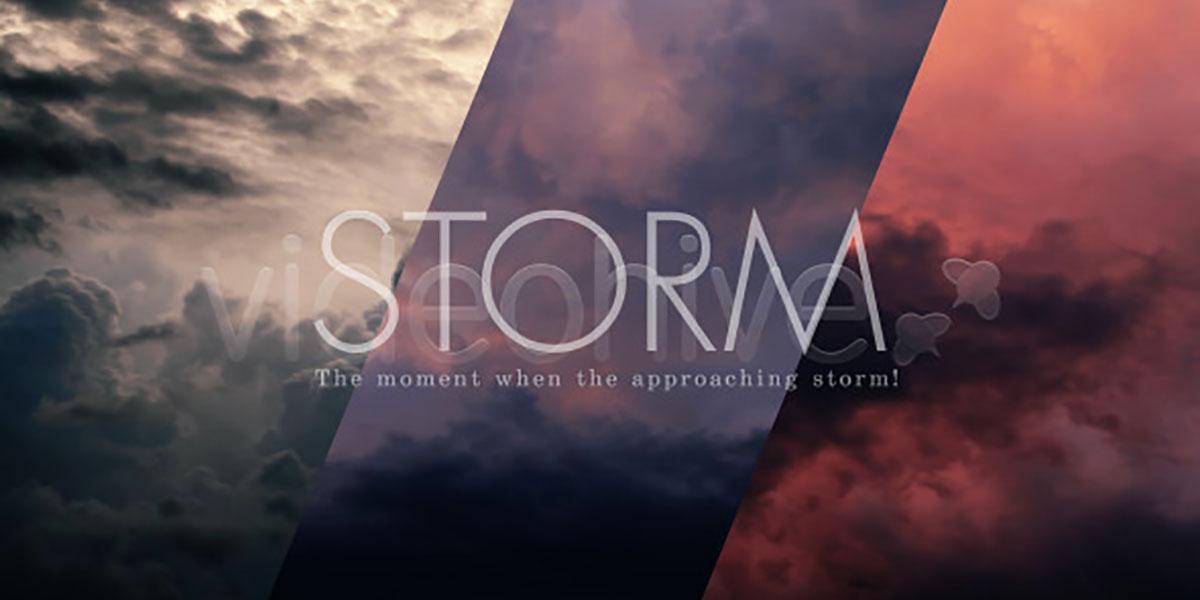 Видео клип штормовые облака на небе