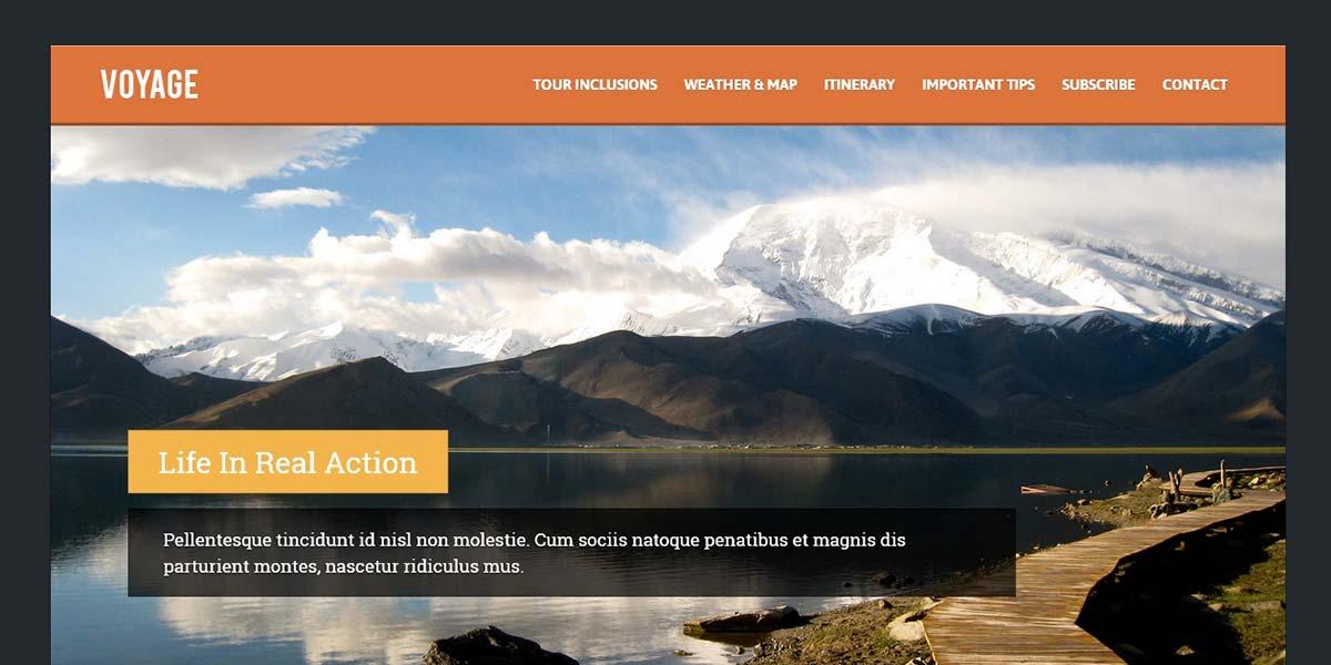 Voyage - туристический Landing Page шаблон 2 вариант