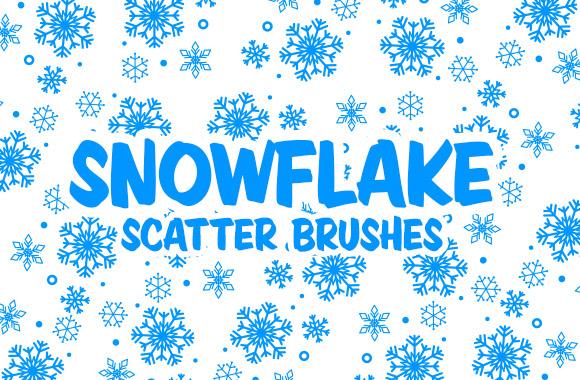 Снежинки для бесшовного фона