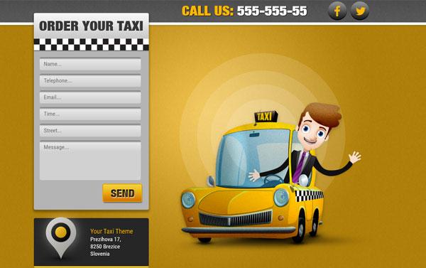 Html шаблон быстрого заказа такси