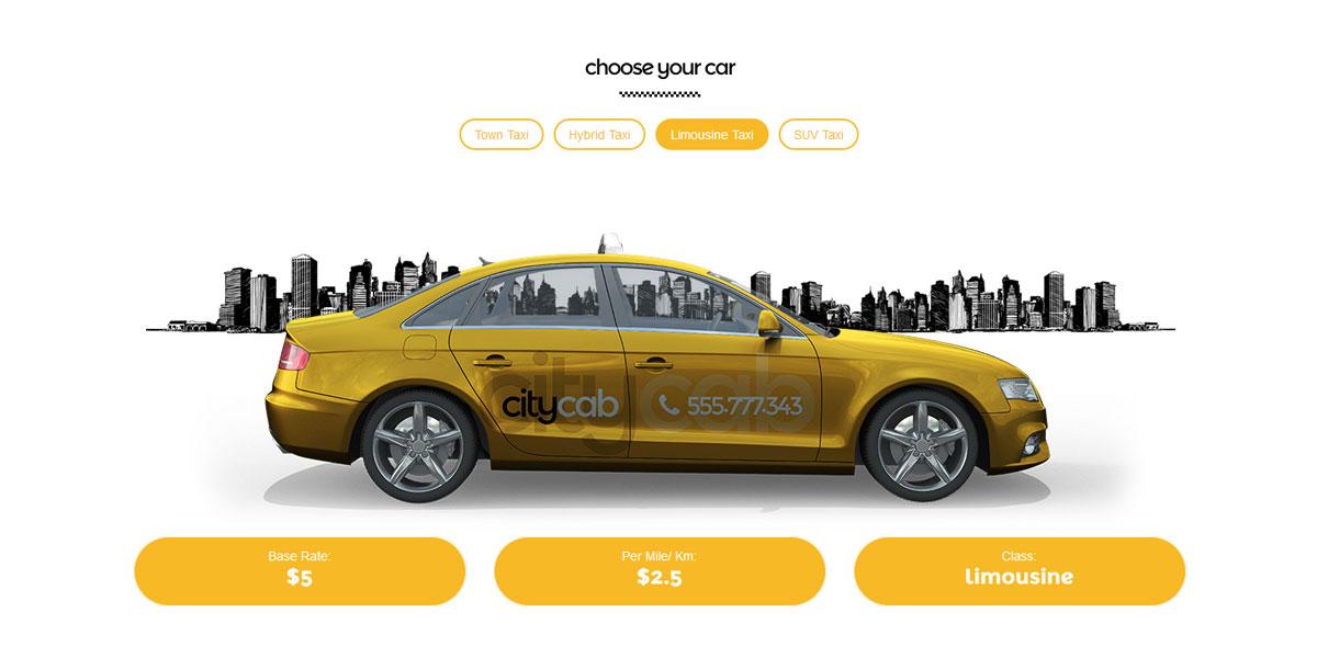 WordPress шаблон такси - CityCab