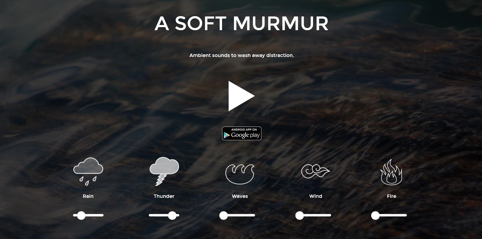 Звуки окружающего мира asoftmurmur.com