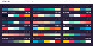 Цветовые схемы Coolors