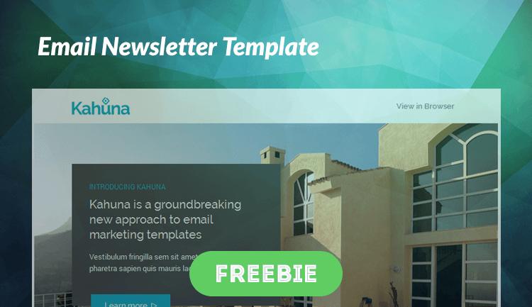 Бесплатный Email шаблон для новостных рассылок Kahuna