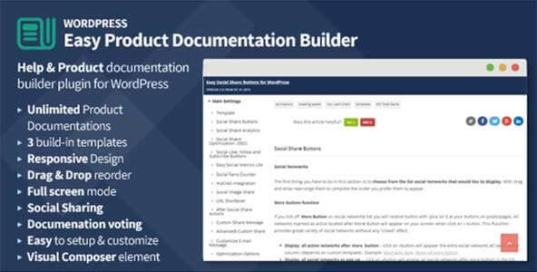 Плагин документации Easy Product Documentation Builder for WordPress