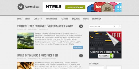 Бесплатный WordPress шаблон AccentBox