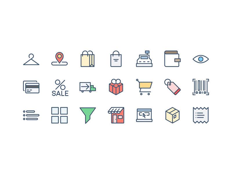 иконки интернет магазин и коммерция