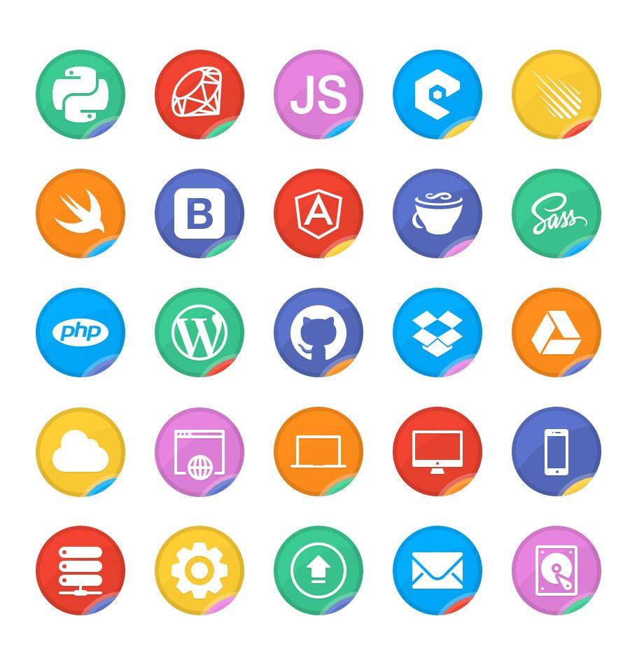 коллекция иконок веб-разработка